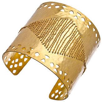 Wendy Mink Chain Laced Hammered Cuff