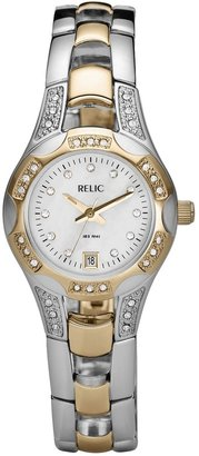 Relic by Fossil Women's Crystal Two Tone Watch