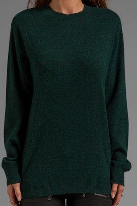 Alexander Wang Distressed Merino Blend Knit Pullover