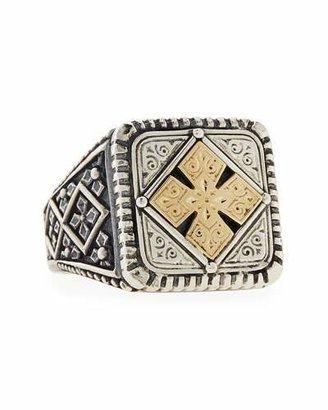 Konstantino Men's Maltese Cross Square Ring, Size 10 $435 thestylecure.com
