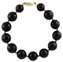 Effy Onyx and 14K Yellow Gold Tennis Bracelet