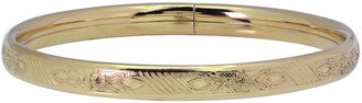FINE JEWELRY Child Floral Etched Bangle 14K/Sterling Silver $93.73 thestylecure.com