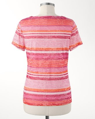 Coldwater Creek Crimson stripe top
