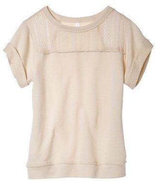 Junior's Short Sleeve Sweatshirt