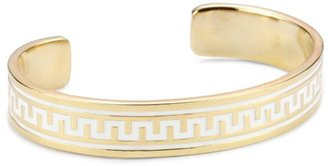 "Lisa Stewart Modern Myth"" 14k Gold-Plated White Narrow Cuff-Bracelet"