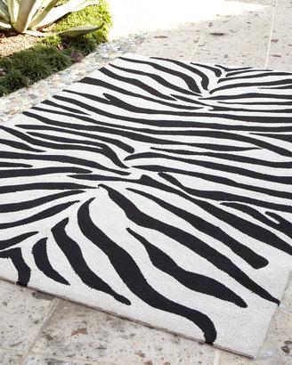 Zoey Zebra-Print Rug