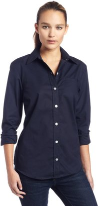 Dickies Womens Long Sleeve Stretch Poplin Shirt