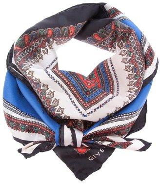Givenchy patterned paisley print scarf