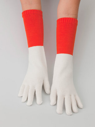 American Apparel Unisex Acrylic Blend Mid-Length Two-Color Glove