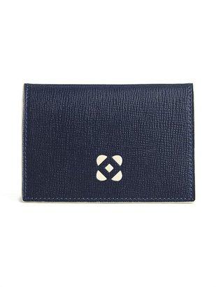 Oscar de la Renta Card Case In Textured Calf Leather