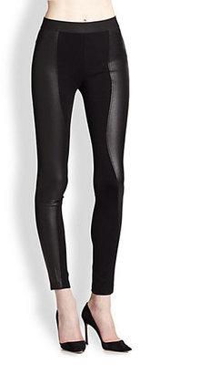 BCBGMAXAZRIA Shelby Faux Leather Combo Pants