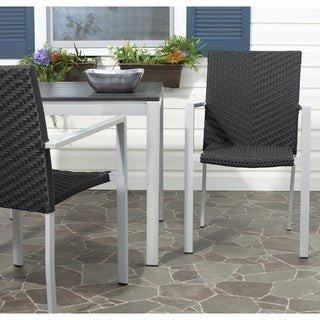 Safavieh Cordova Black Stackable Indoor/Outdoor Chairs