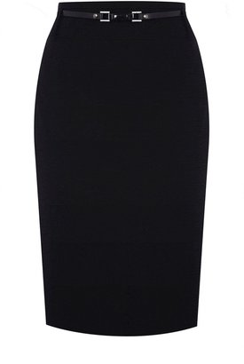 Oasis Belted Pencil Skirt