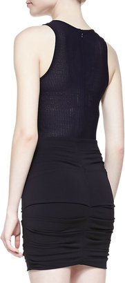 Yigal Azrouel Cut25 by Sleeveless Ruched Fitted Jersey Dress