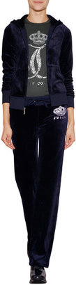 Juicy Couture Velour Ornate Monogram Pants
