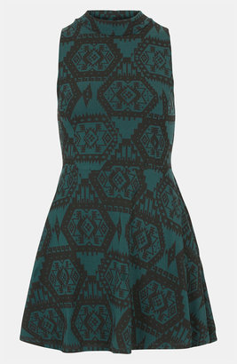 Topshop Aztec Print Polo Tunic