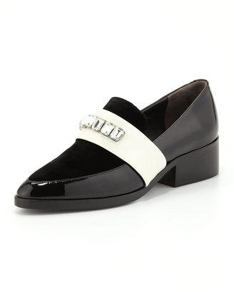 3.1 Phillip Lim Quinn Embellished-Strap Pointy-Toe Loafer