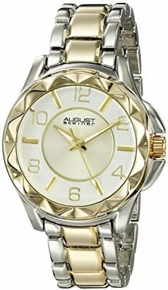 August Steiner Women's AS8159TTG Silver And Gold Quartz Watch with Silver And Gold Dial and Two Tone Bracelet