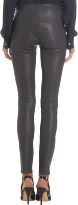 J Brand Lambskin Pull-On Leggings