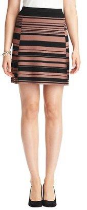 LOFT Striped Compact Knit Elastic Waist Skirt