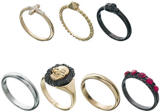 Asos Habanera Skull Mixed Ring Pack