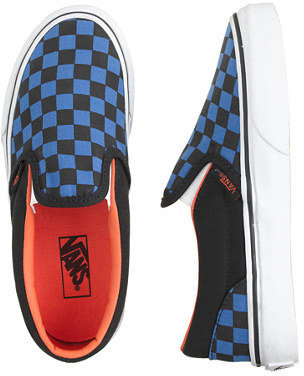 Vans Kids' checkerboard slip-on sneakers