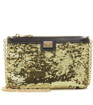 Dolce & Gabbana SEQUIN EMBELLISHED SHOULDER BAG