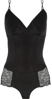 Alexander McQueen Yummie by Heather Thomson Laney lace-trimmed stretch bodysuit