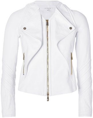 Faith Connexion White Leather Biker Jacket