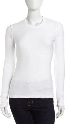 James Perse Long-Sleeve Tee, White