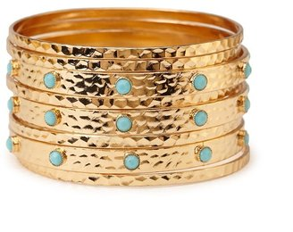 Forever 21 Dimpled Faux Stone Bangle Set