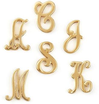 Jennifer Zeuner Jewelry Gold Initial Earring, Right