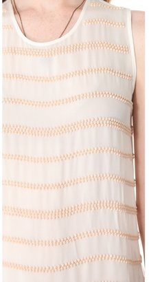 L'Agence Sleeveless Blouse with Stones