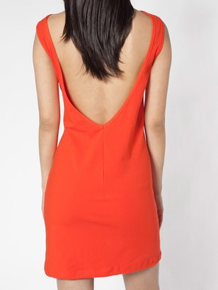 American Apparel Cotton Spandex Jersey Scoop Back Dress