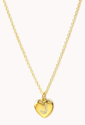 Forever 21 J Initial Charm Necklace