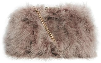 Asos Clutch Bag With All Over Marabou