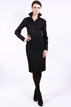 Lyudviga Couture Houndstooth Pencil Skirt