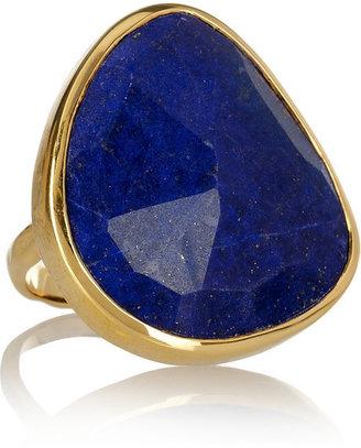 Monica Vinader Siren gold-plated lapis lazuli ring