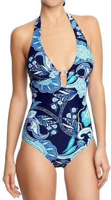 Old Navy Women's Paisley O-Ring Swimsuits