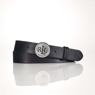 Ralph Lauren Plaque-Buckle Leather Belt
