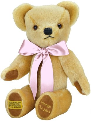 Merrythought Personalised London Gold Teddy Bear With Gold Thread Soft Toy