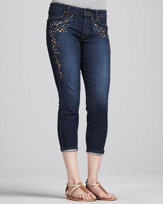 CJ by Cookie Johnson Believe Beaded Cropped Denim Jeans