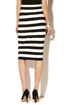 Vince Camuto Striped Midi Tube Skirt