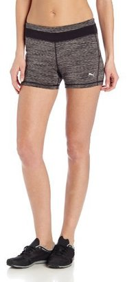 Puma Women's Space Dye Shorts, Black Heather, Large