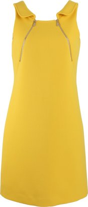 Michael Kors Foldover Collar Zip Tank Dress