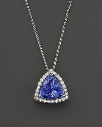 """Bloomingdale's Tanzanite and Diamond Pendant Necklace in 14K White Gold, 18"""""""