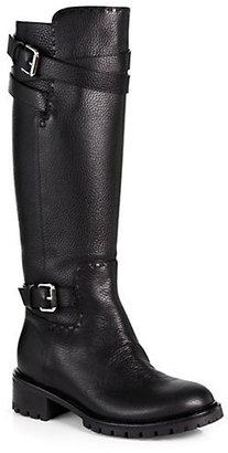 Fendi Leather Knee-High Boots