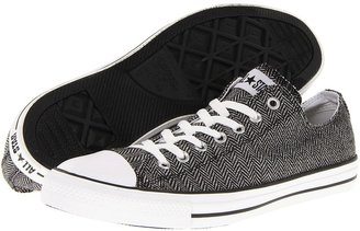 Converse Chuck Taylor All Star Ox Winter Weight Material (White/Black) - Footwear