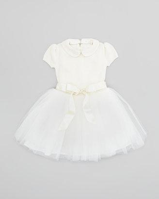 Ralph Lauren Sweater Dress with Tulle Skirt, Cream