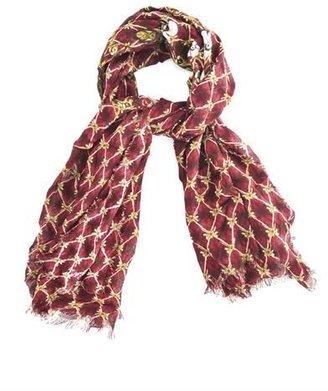 Alexander McQueen Grid-print fine-knit scarf